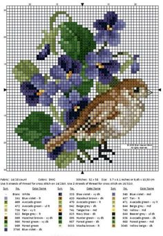 Etamin Şablonları Kuş Desenleri 29 - Mimuu.com