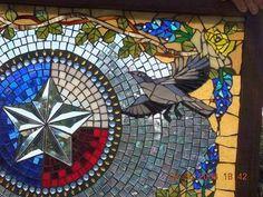 Kathleen Dalrymple - Glass Artist: Mockingbird and Roses