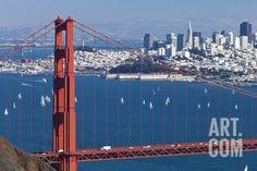 San Francisco Panorama W the Golden Gate Bridge Photographic Print by kropic at Art.com