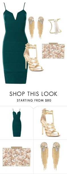 """""""green/gold look"""" by belledationsa on Polyvore featuring Chinese Laundry, Phase Eight and Alexis Bittar"""