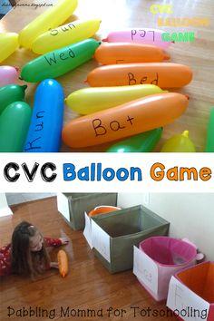 CVC Word Balloon Game