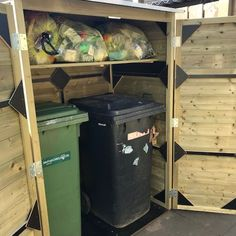 Garbage Can, House Extensions, Sweet Home, Shed, Storage, Garden, Diy, Garden Landscaping, Purse Storage
