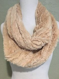 NWT! THE PAPER STORE Faux Fur Infinity Scarf Beige 2017 Cozy Soft Trendy Fashion | eBay