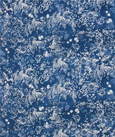 blue Kokka double gauze beautiful small white flower nani iro fabric 2