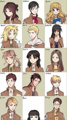 SnK Genderbend, ususally I find these kind of weird, but this made me laugh when I got to Levi so I decided to pin it. <-- Hange's a-attractive? W-what?