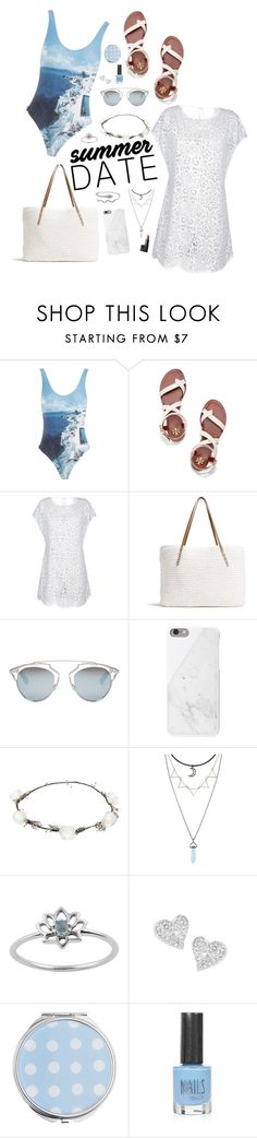 """""""airplanes cut through the clouds like angels can fly (summer date: the beach contest entry)"""" by sophia-etr ❤ liked on Polyvore featuring Orlebar Brown, Tory Burch, G.H. Bass & Co., Christian Dior, Native Union, Lipsy, Vivienne Westwood, Miss Selfridge, Topshop and beach"""