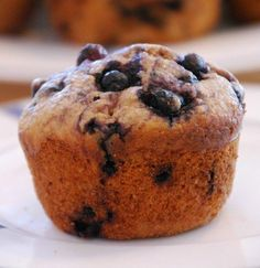 healthy, delicious whole wheat banana blueberry muffins from Homegrown Friends