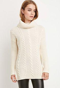 Longline Turtleneck Sweater