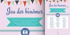 Mariage : le jeu des binômes ! (imprimable gratuit)