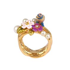 Collection Jardin d'Amour http://shop.lesnereides.com/rings/2900-female-tit-in-its-beads-nest-ring-3700377792597.html