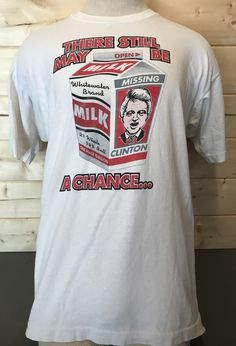 Vintage 1990's Funny Political Cartoon Bill Clinton T-Shirt  Made in USA by 413productions on Etsy