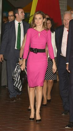 Nov 17, 2013 ~ Princess Letizia attended the Miami Book Fair International 2013 Inaugural event in Miami, Florida