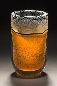 """*Art glass - """"Desert Carved"""" by  Steve E. Main"""