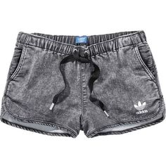 adidas DENIM SHORTS (56 AUD) ❤ liked on Polyvore featuring shorts, bottoms, pants, short, denim short shorts, jean shorts, adidas, short shorts and short jean shorts