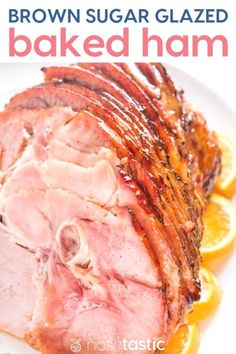Brown Sugar Ham Glaze for Baked Ham, you can make the ham in a slow cooker or crockpot, or warm it in the oven then add the brown sugar glaze and broil, way cheaper than a Honeybaked Ham! Recipes With Cooked Ham, Ham Recipes, Cooking Recipes, Weekly Recipes, Dairy Recipes, Cooking Bacon, Cookbook Recipes, Yummy Recipes, Recipes
