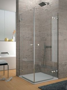 Mampara- Micasarevista Glass Shower, Tiles, Pure Products, Bathroom, House, Furniture, Home Decor, Shower Ideas, Cabinets