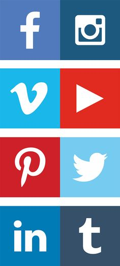 Free Social Media Vector Icons #freebies #designicons #uielements