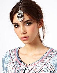 $25.46 ASOS Jewelled Stone Tikka Hair Clip