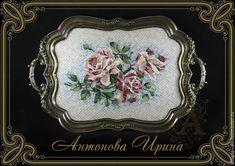 """Антонова Ирина Поднос мозаичный-""""Розы"""""""