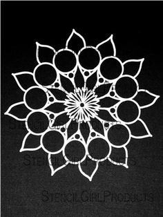 Click here to order the Doodle It Dahlia Stencil by Maria McGuire for StencilGirl Products. $14.00