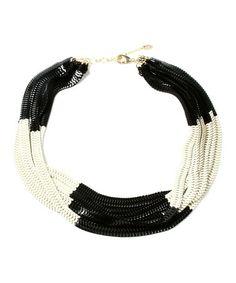 Look what I found on #zulily! Black & White Chelsea Necklace by Amrita Singh #zulilyfinds