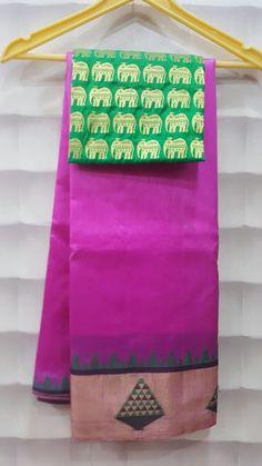 Tussur Silk With Designer Brcade blouse | Buy Online Sarees | Elegant Fashion Wear