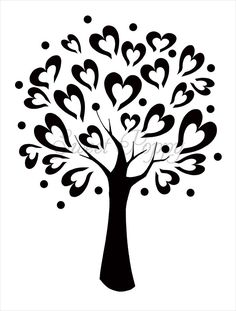 tree stencils | Sweet Poppy Stencil: Tree of Love
