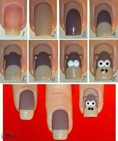 Maquillaje de uñas de mono paso a paso - http://xn--decorandouas-jhb.com/maquillaje-de-unas-de-mono-paso-a-paso/
