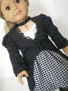Cutaway Coat  Skirt  Accessories  American Girl by fashioned4you