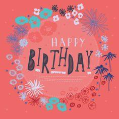 Rebecca Prinn - Floral Text Birthday Frame