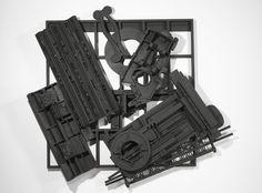 ", 1985. wood painted black, 9' 9"" x 11' 7"" x 1' 9"" (297.2 cm x 353.1 cm x 53.3 cm)."
