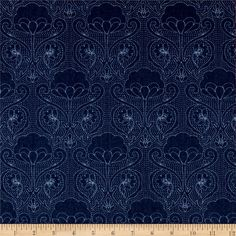 Art Gallery Denim Print Stitched-Ochi from @fabricdotcom  From Art Gallery Fabrics, this Smooth Denim fabric is part of the Denim Studio collection at AGF and it lightweight and soft. This series of premium substrates, brings you a whole new approach to create your projects. An array of prints and textures on trendy colors are ideal for quilting, apparel, home decor and accessories. Mix and match to suit your taste!