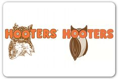 Hooters' new logo - flat color trend alive and well