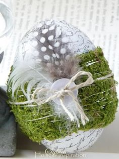 Adorable Easter eggs #easter - could see this made in different colrs and such as Christmas ornaments