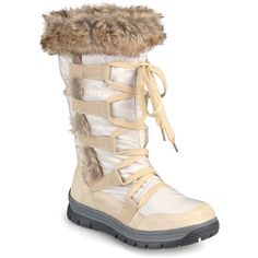 Journee Collection Taupe Pelt Boot ($50) ❤ liked on Polyvore featuring shoes, boots, zip shoes, faux fur lined boots, journee collection shoes, traction shoes and zip boots