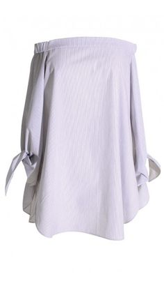 This new take on the must-have Tibi Striped Poplin Off-the-Shoulder Tunic will have you seeing stripes.