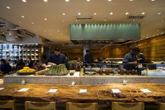Robata-grilled goodies are publically prepared on a huge central grill - top marks for glitz and glamour. Our review is here: http://www.timeout.com/london/restaurants/roka