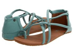 These Volcom sandals in mint looks great with dress or shorts.