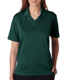 UltraClub Ladies Cool & Dry 60/40 Performance Polo Shirt. 8436 - Large - Forest Green UltraClub. $22.00