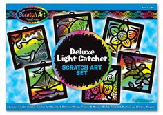 Melissa and Doug 5986 Scratch Magic Light Catcher Deluxe Set - 3373