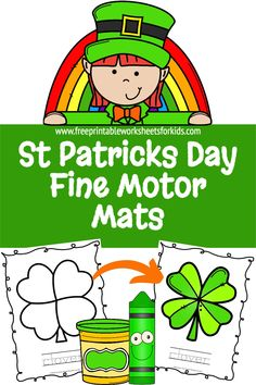 St Patricks Day is a big deal where we live so I designed these preschool fine motor mats. Your students can practice their playdough, coloring or any other crafty skills. This free printable worksheet can also be used for some kindergarten handwriting practice. Combine fine motor strengthening and literacy this March with this no prep activity! #preschoolfinemotor #freeprintableworksheetsforkids #stpatricksdayplaydough #kindergartenhandwritingpractice Tracing Worksheets, Free Printable Worksheets, Worksheets For Kids, Free Printables, Educational Activities, Preschool Activities, Circle Time Games, Kindergarten Handwriting, Handwriting Practice