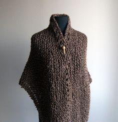 Custom Hand Knit  Prayer Meditation Comfort Shawl by PeacefulPath, $62.00