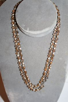 Vintage Rhinestone Encrusted Necklace 1970s Jewelry by patwatty, $18.00