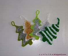 Ravelry: Christmas Decoration part II pattern by c v e t u l k a knits Knitted Christmas Decorations, Christmas Ornaments To Make, Christmas Art, Christmas Christmas, Christmas Ideas, Xmas, Christmas Knitting Patterns, Knitting Patterns Free, Orange Christmas Tree