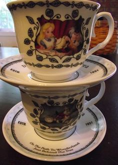Alice in Wonderland tea cup and saucer