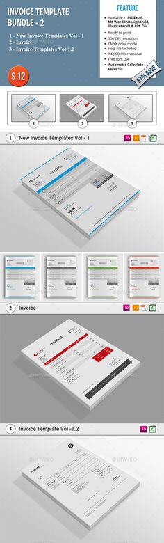 Invoice Template  Proposal Templates Ai Illustrator And Font Logo