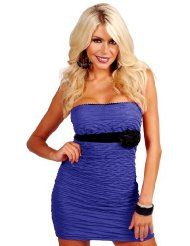 #Vintage Strapless Neckline Empire Fitted  party dresses #2dayslook #new style fashion #partystyle  www.2dayslook.com