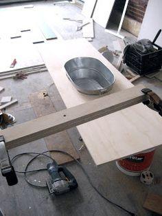 Ellard Building Project: Making the Wash Tub Sink