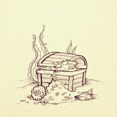 treasure chest tattoo - Cerca con Google