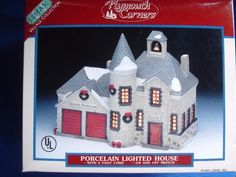 LEMAX Bristol Firehouse Plymouth Corners Christmas Village Porcelain MINT in Box